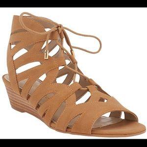 Franco Sarto L upstart sandals women's tan 7.5